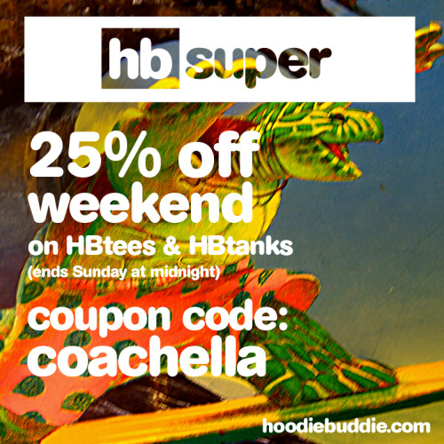 Its Sunday and you survived the weekend! Last chance for 25% off all HBtees and HBtanks this weekend!!!  keep listening! -hb