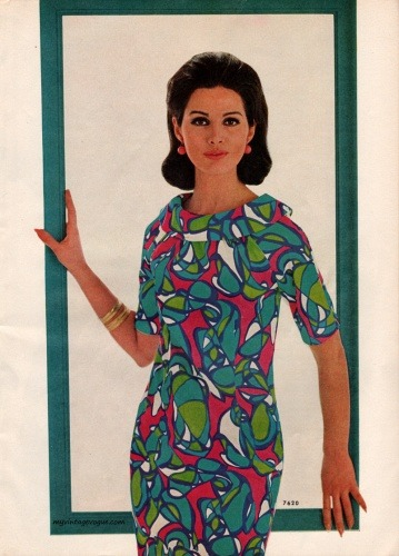 Neon chic, 1965-style from My Vintage Vogue.