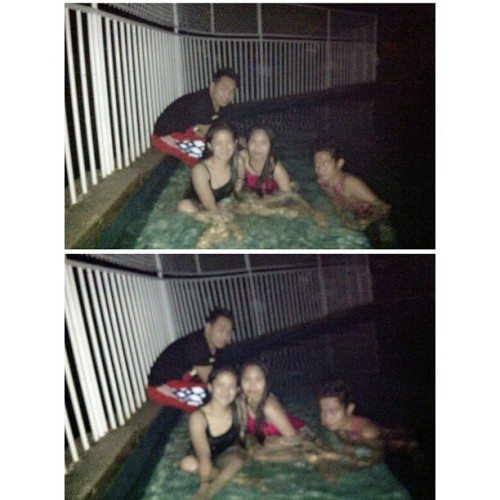 Night swimming with 'em 🏊⭐🌙