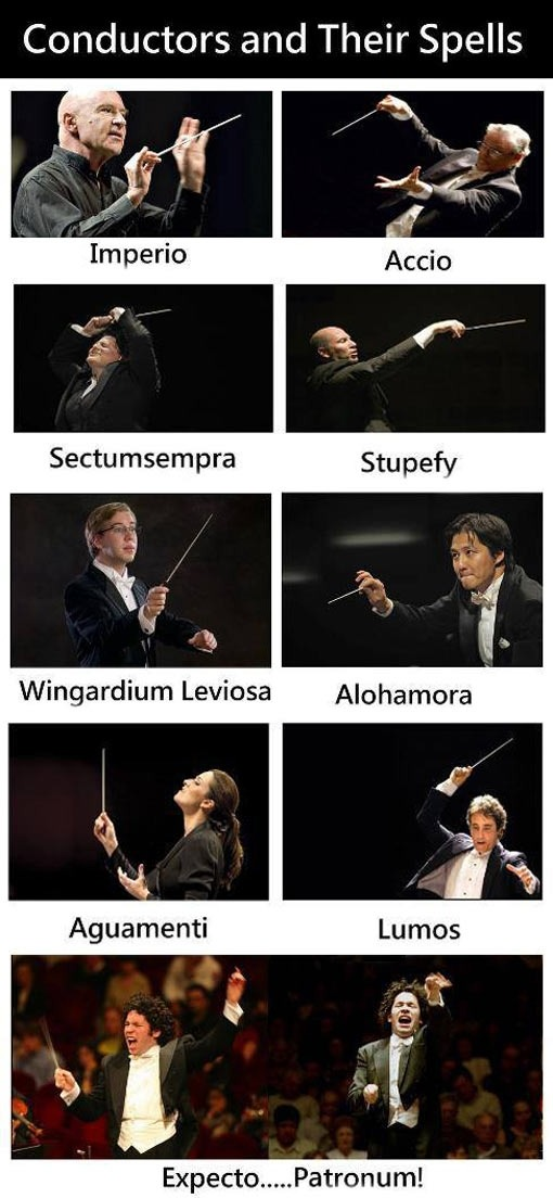lizziecheesenub:  Conductors and their spells.