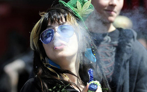 weedporndaily:  Pot Is Safer Than Booze: So Why Is Celebrating 4/20 a Crime, While It's OK to Get Wasted on St. Paddy's Day? (CC) I spent last St. Patrick's Day at the marijuana policy reform group NORML's conference in Philadelphia. It was pouring rain when I arrived, and as I ran from my car through the University of Pennsylvania campus, I tried to discern the green-clad marijuana activists from St. Patrick's Day revelers. I quickly realized it was not that hard: the pro-pot advocates, as quirky as the some of them were, appeared to have better control of their footing. St. Patrick's Day, though an Irish holiday rooted in history and tradition, is regarded by many Americans (perhaps on college campuses, in particular) as an opportunity to get wasted. Meanwhile, today, April 20, is known as the marijuana user's holiday, 4/20. Across the country, stoners are gathering to defy the law and get high. Read more