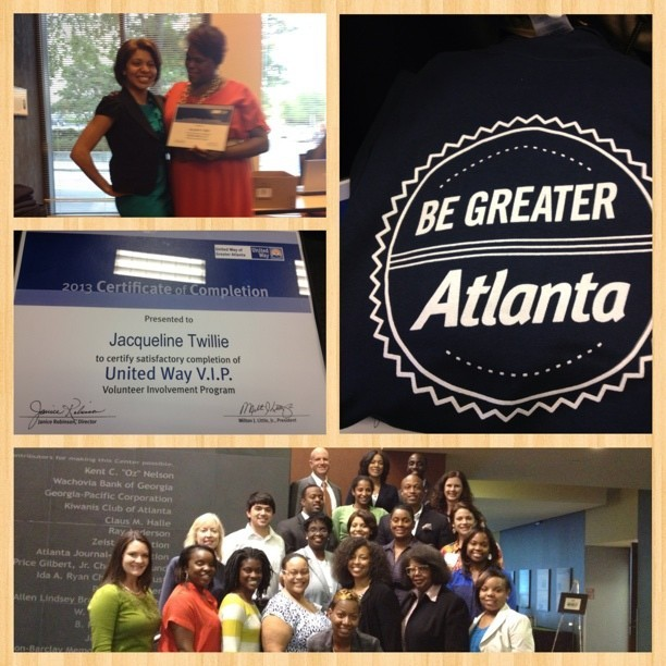 Thanks to all those who supported me #UnitedWay #begreateratlanta #vip I'm headed to my next level of service to the community.