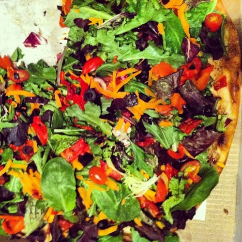 Salad pizza - don't knock it until you try it. #gettossed