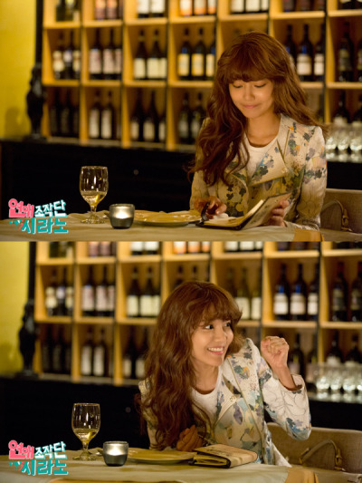 130521 [PRESS] Sooyoung : Dating Agency; Cyrano - Sooyoung giving encouragement to her client~^^ Hwaiting! Source: Dating Agency; Cyrano