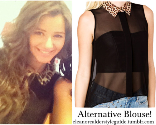 Alternative blouse by ieleanorcalderstyle featuring sheer shirts  Forever 21 sheer shirt