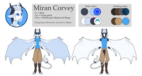 It's been a loooong long time since I've done a ref sheet. It's pretty basic, but he's a fairly straightforward character, too.