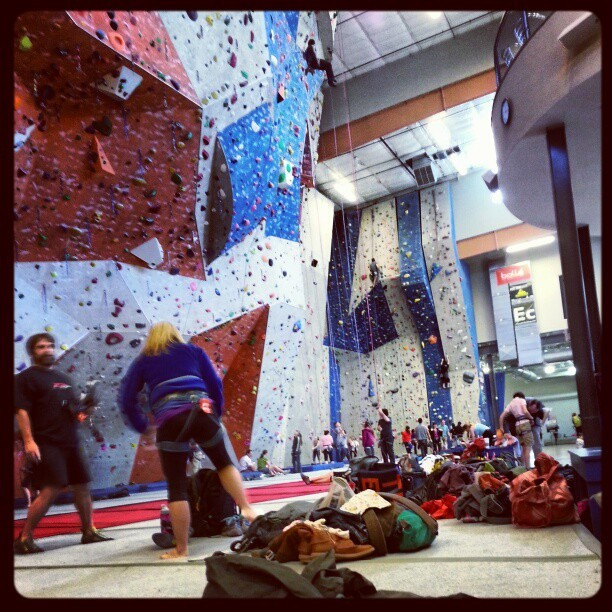 State of the art climbing gym. Those are some big walls :-)  (at Stone Summit Climbing & Fitness)