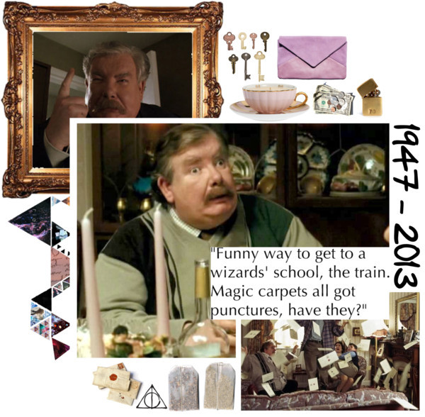 hudsonvera:   RICHARD GRIFFITHS, VIP (VERNON IN PEACE) by i-love-stan-the-man featuring a photo handbag ❤ liked on Polyvore MOR Cosmetics Tea Cup Candle 256g / Customizable Brass Lighter / Deathly Hallows Symbol- Harry Potter- HP- Decal Sticker   Rest Easy, Uncle. <3