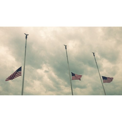 Half mast (at Union Station)