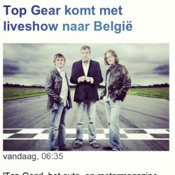 Fuck yeah! (Sadly enough on the second #groezrock day :( ) #topgear