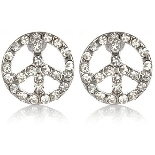 River Island earrings   ❤ liked on Polyvore (see more peace earrings)