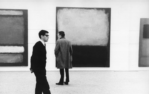 "kvetchlandia:  Uncedited Photographer     Mark Rothko's First UK Solo Show, the Whitechapel Gallery, London     1961 ""I paint very large pictures. I realize that historically the function of painting large pictures is painting something very grandiose and pompous. The reason I paint them, however – I think it applies to other painters I know – is precisely because I want to be very intimate and human. To paint a small picture is to place yourself outside your experience. However you paint the larger picture, you are in it."" Mark Rothko"