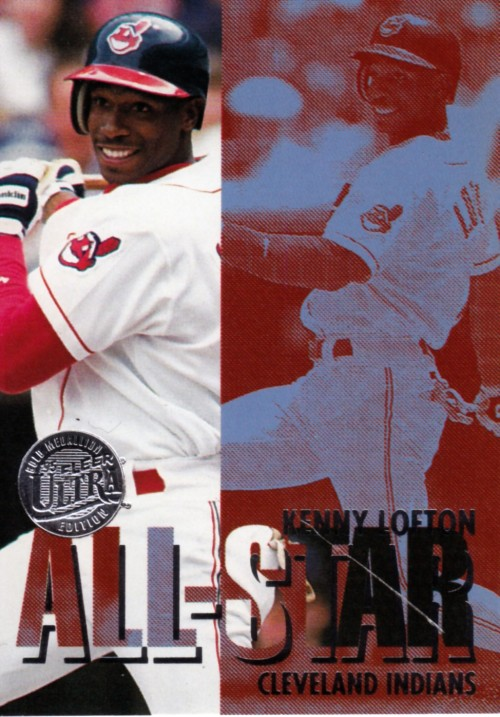 Random Baseball Card #2379: Kenny Lofton, outfielder, Cleveland Indians, 1995, Fleer.
