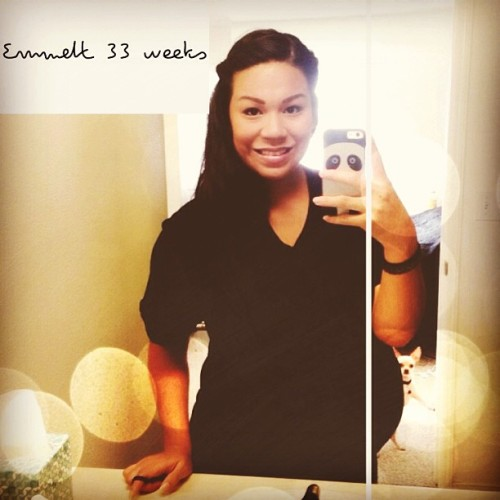 Getting big  #EmmettPaul#pregnancy#33weeks#huge#Rocky#almostthere