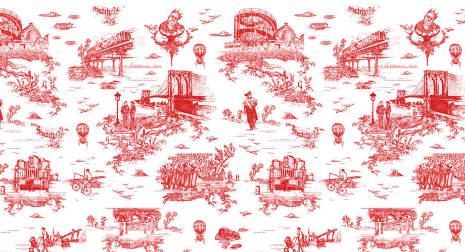 Brooklyn toile wallpaper designed by Beastie Boy Mike D and Revolver NY