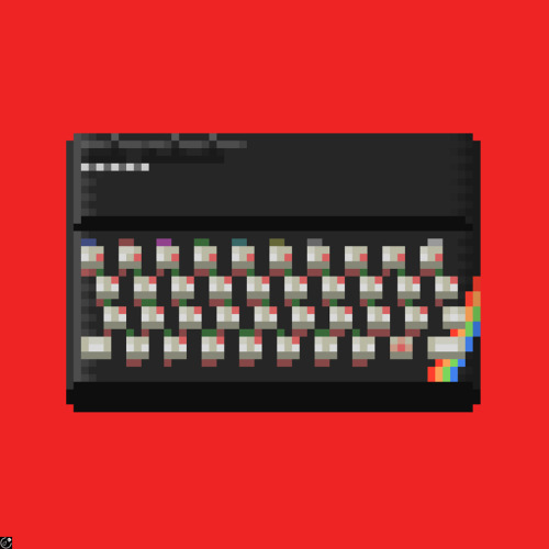 Spectrum ZX Created by Walter Newton (via:debutart)