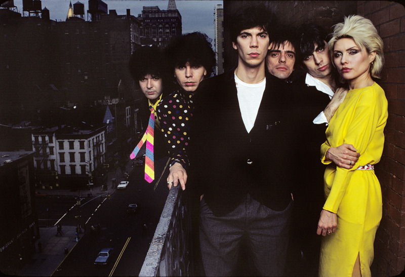 Blondie On The Balcony. Photo by Norman Seeff. 1979.