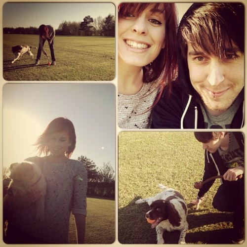 Evening dog walk :) #sun #sunny #park #dog #dogs #pets #hot #play #happy #evening #walk #dogwalk #ipad #instahub #instalike