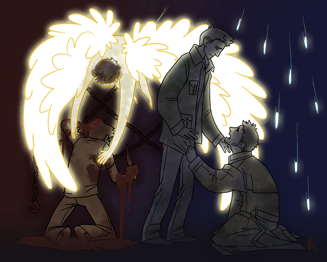 jadeprince:  Maybe this time it's Dean's turn to pull Cas out of the depths.