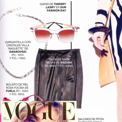 The Thierry Lasry Sunglasses - Sexxxy in clear featured in Vogue Spain