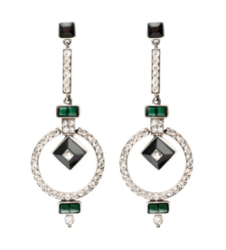 Ben Amun Round Art Deco Linear Earrings