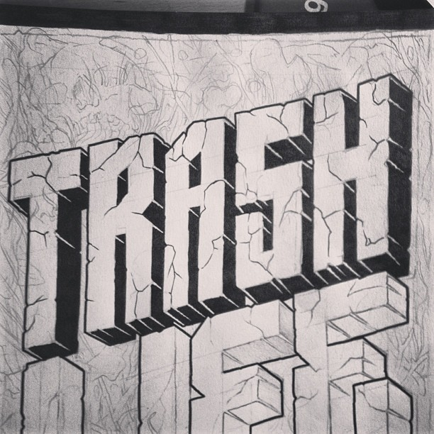#trash #trashlife #tshirt #design #illustration #handmade #ink #inprocess