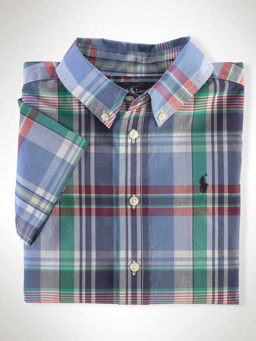 Ralph Lauren short-sleeve plaid shirt