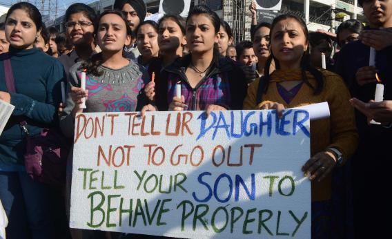 rookiemag:  ardaniel:   Women protesting Delhi's epidemic of rapes. Found it on imgur; think the source is likely one of the Indian news agencies.   -n