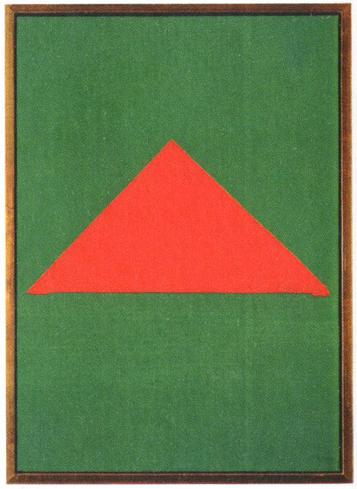 Red Triangle On Green By Blinky Palermo, 1967
