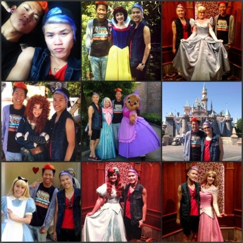 Random Disney day with @ohrayne got to meet all the random bitches of #Disney :) yayyyy #SnowWhite #Cinderella #Merida #FairyGodMother #Alice #Ariel #Aurora #Brave #Princess #Wonderland #SleepingBeauty #Fairytale #BadBitches #BadGirlsClub #AwesomeBitches #Gay #gaysian #Asian #Boys #gayboy #HotAssWeather #Fire #Ice #Hair  (at Disneyland)