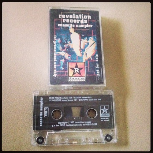 "@revhq @revelationrecords #rev ""sampler #tape w/ #farside #enginekid #shadesapart #whirlpool #orange9mm #civ #insideout #sensefield #iceburn #intoanother #quicksand #nyhc #straightedge #hardcore #punk  (at Hard Press Headquarters Lynwood California)"