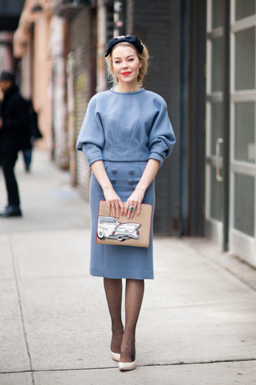 theinsidesource:  FW Style: Ulyana Sergeenko Last fall, The Inside Source visited Russia and fell in love with the style of Ulyana Sergeenko, a global fashion icon. Here's Ulyana in New York last week visiting the city to attend New York Fashion Week. (Photo: Melodie Jeng. Text by Jauretsi)