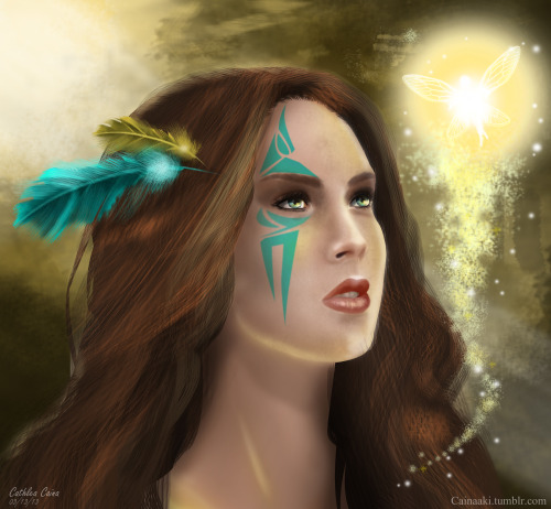 My version of Tigerlily of Peter Pan. :) It took a while, I need to invest on a good pen tablet na, it's difficult when you use mouse. Aki 03/13/13