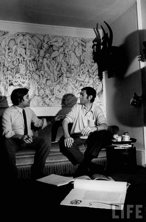 chagalov:  Julio Silva (Lt.) and Julio Cortázar, Paris, 1969 -by Pierre Boulat from Life