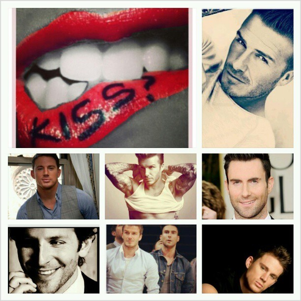 A few of my white chocolate crushes! #handsome #fine #crushes #adamlevine #channingtatum #DavidBeckham #Bradleycooper#missingrobinthicke #whitechocolate
