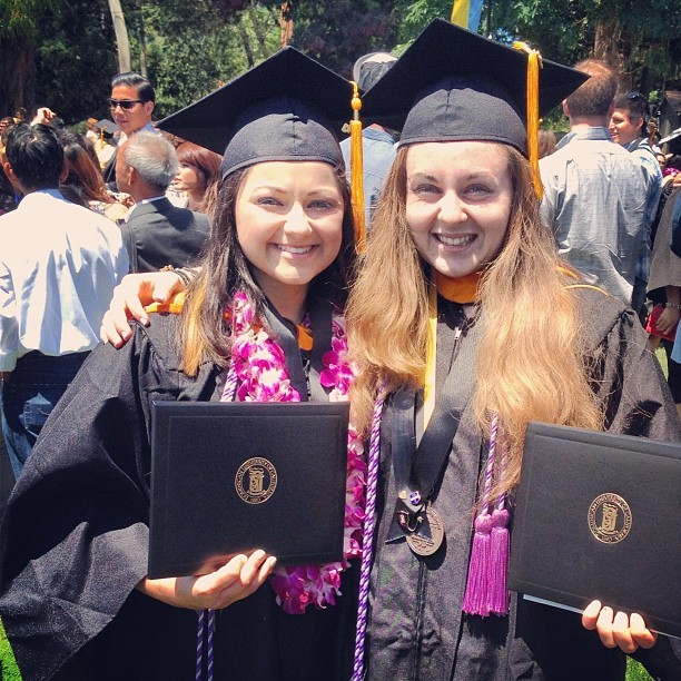 WAIT WAIT your telling me I just graduated college with my best friend???? Life is so unreal right now @brittanaaay11  (at Dominican University Of California)