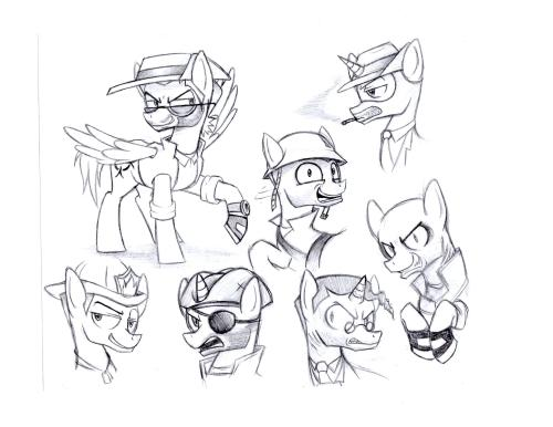 Drawing crossovers WOO! HAHA MLP/TF2 Freaks (GMOD Monsters)