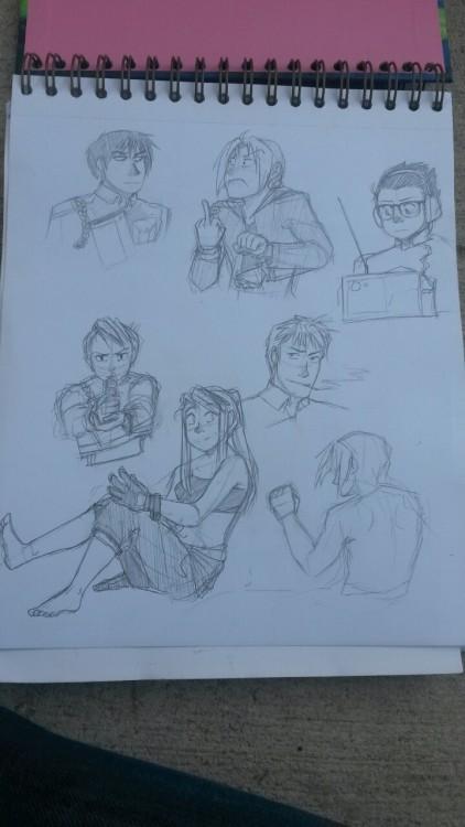 curioscurio:  Some more fma sketches!!!