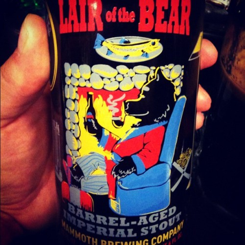 Now this is a fine beer!  Lair of the Bear - Mammoth Brewing Company. #mammothbrewing #beer