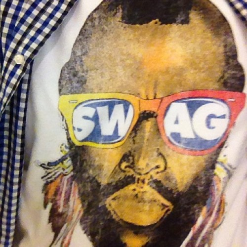 "A guy just shouted at me ""nice shirt.."" Dang mr. T you still got it playa!  (at Galleria Tower 1)"