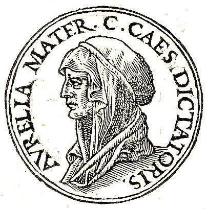 Aurelia Cotta, the mother of Gaius Julius Caesar. Contrary to the popular rumour, she did not deliver her son via Caesarean Section, as there is not a recorded instance of a mother surviving one until 1500. She lived well into her sixties, running her son's household and helping to raise her granddaughter after the death of Caesar's first wife in childbirth.