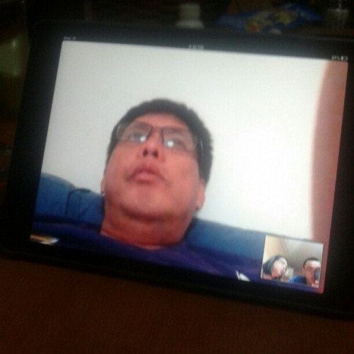 Skype with daddy.