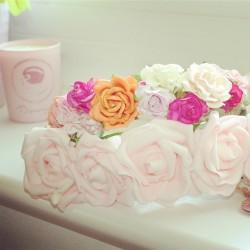 flowers pink floral floral crown rosy floral crowns