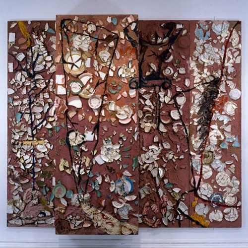 "Julian Schnabel plate painting, ""The Patients and the Doctors"" 1978 #oscars #hollywood #artists #art #losangeles #julianschnabel #sculpture #sculpturerelief"