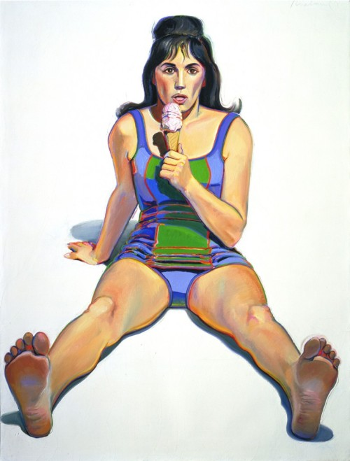 Wayne Thiebaud, Girl with Ice Cream Cone, 1963. Oil on canvas, 48 1/8 x 36 1/4 inches.