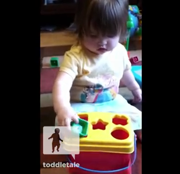 Video: Toddler Outsmarts Shape Sorting Toy Shapes are overrated.  I just want to cut corners
