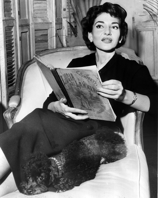 La Divina reads. theniftyfifties:  Maria Callas