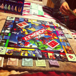 Just absolutely hammered my boyfriend… at marvel monopoly.