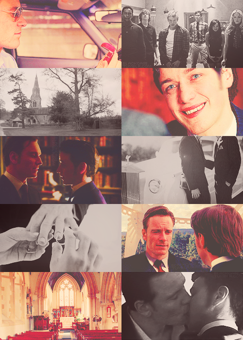 Charles & Erik getting married. | requested by drgarrigan    Bloody hell, break my heart in ten why don't you