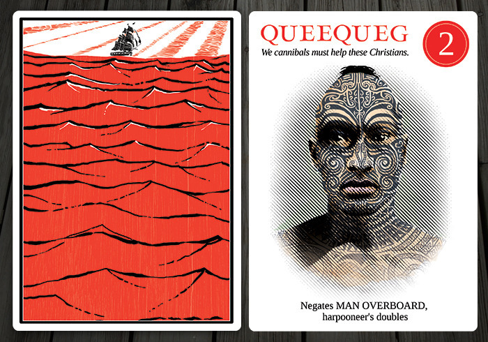 Queequeg. (via Moby Dick, or, The Card Game — Kickstarter)